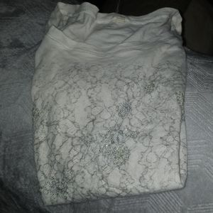 J crew t shirt off white color, size small. Sheer